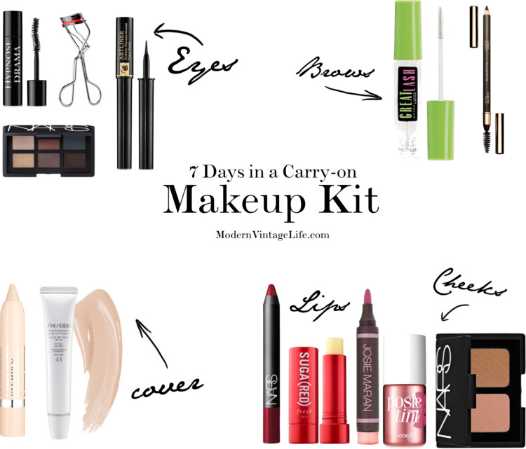 7 Days in a Carry On - Makeup Essentials