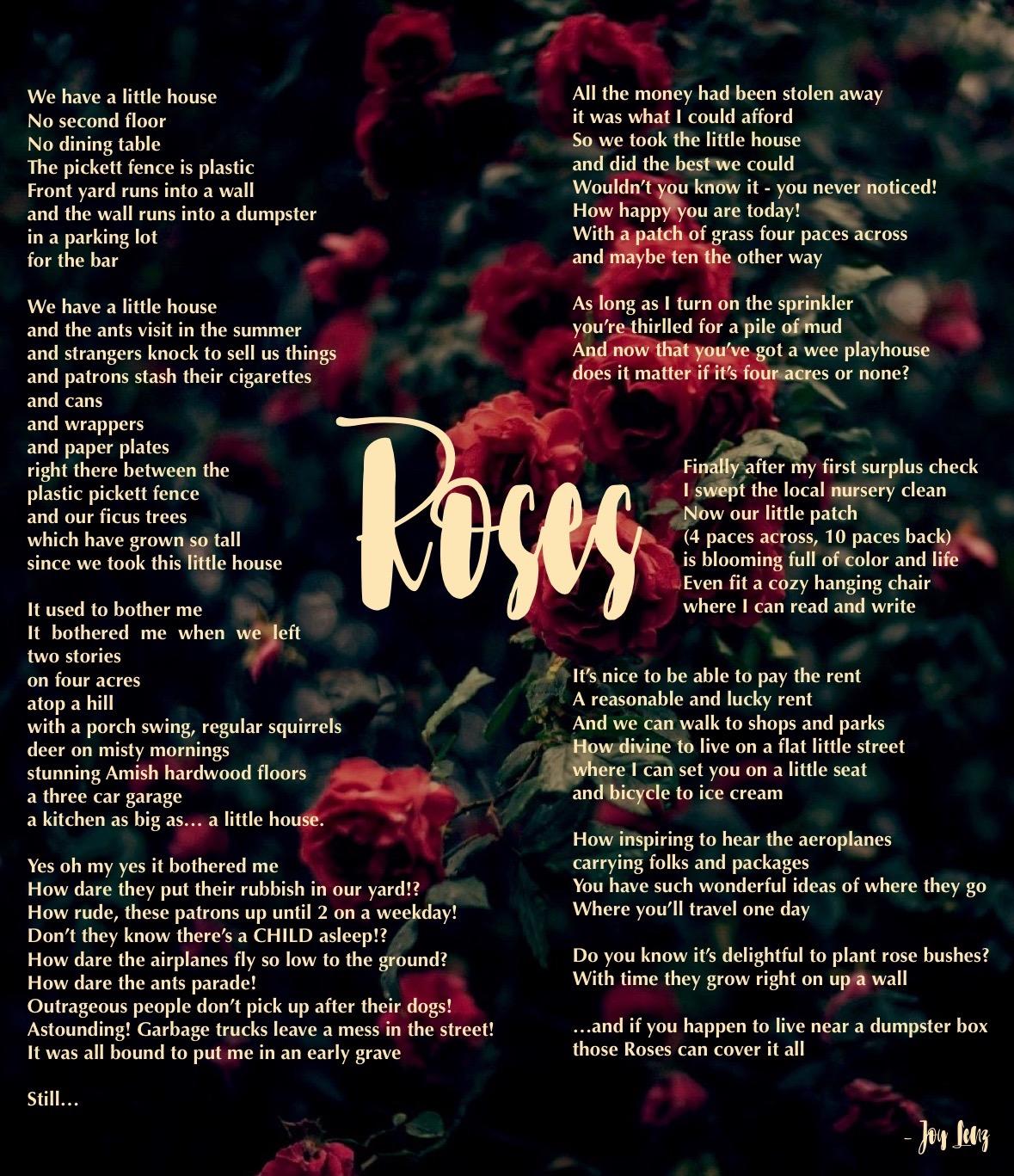 Roses poem by Bethany Joy Lenz - Modern Vintage life